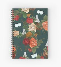 Chemistry Floral Spiral Notebook