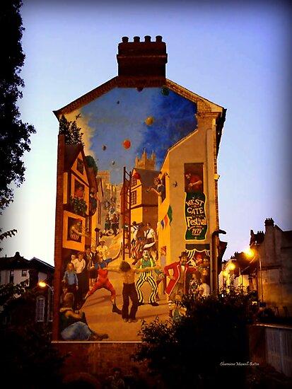 Festive Mural by Charmiene Maxwell-Batten