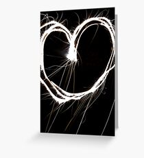 Fireworks in the Heart Greeting Card