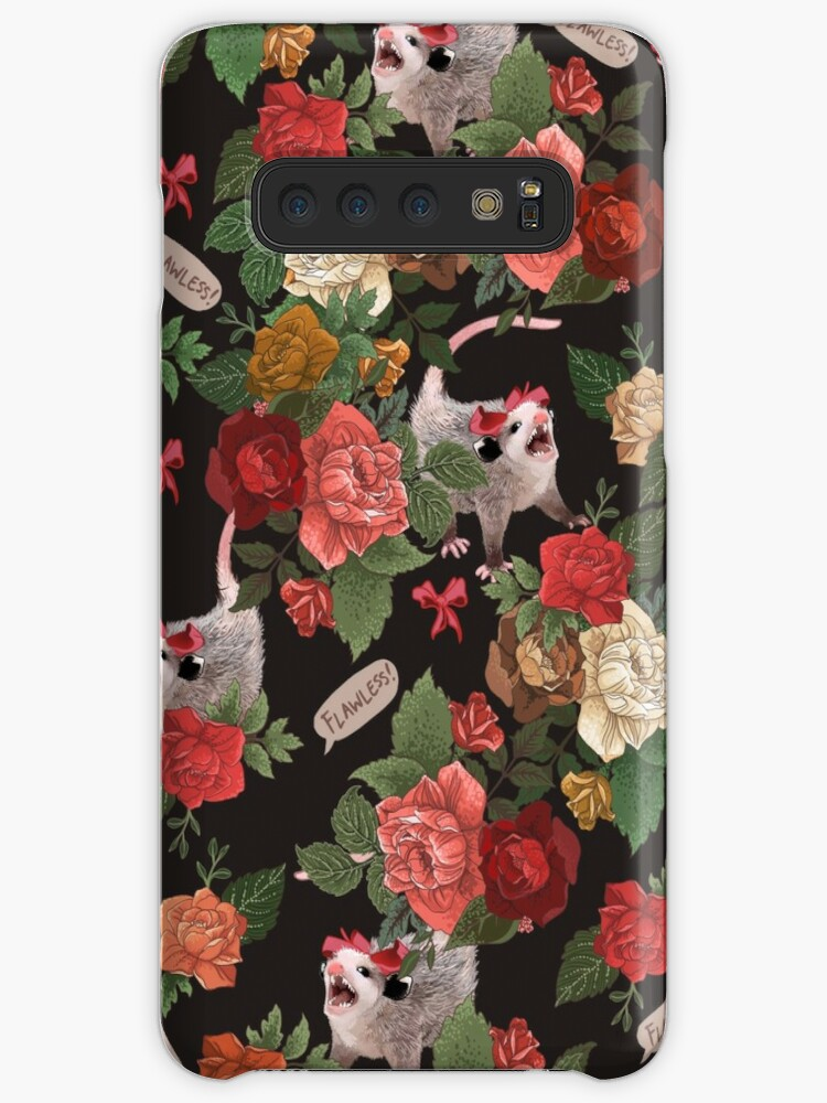 Opossum Floral Pattern (with text) by dcrownfield