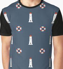 Lighthouse Print  Graphic T-Shirt