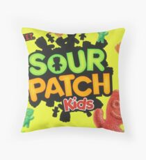 Sour Patch Kids candy package front Throw Pillow