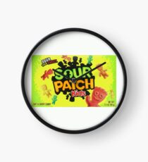 Sour Patch Kids candy package front Clock