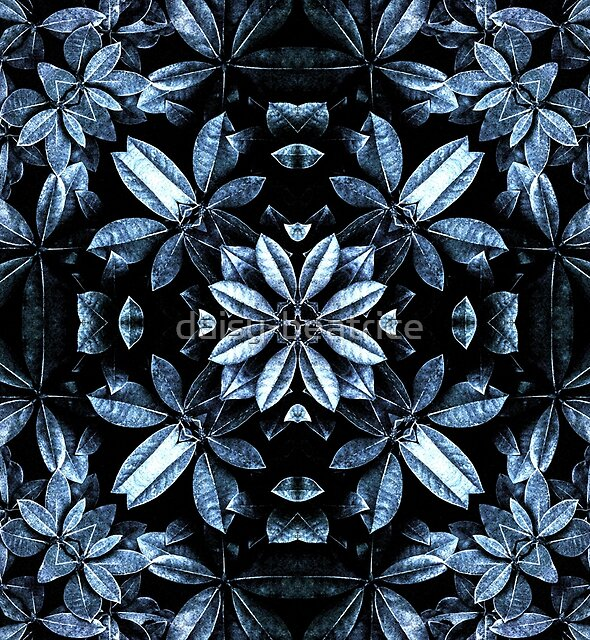 Metallic Leaves Mandala by daisy-beatrice