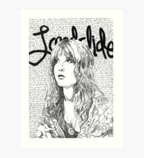 Stevie Landslide Lyrics Art Print