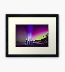 Aurora at Rialto Beach Framed Print