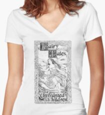 Fairy Two, Light Backgrounds Women's Fitted V-Neck T-Shirt