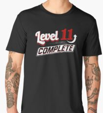 Funny Level 11 Complete Video Game 11th Gamer Geek Men's Premium T-Shirt