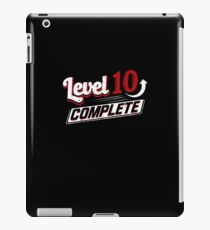 Funny Level Ten Complete Video Game 10th Gamer Geek iPad Case/Skin