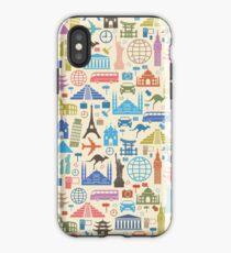 Ikonen der Reise iPhone-Hülle & Cover