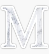 M Mu White Marble Sticker