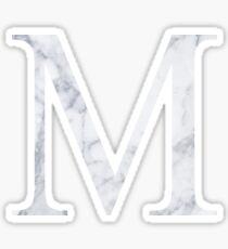 M Mu Weißer Marmor Sticker