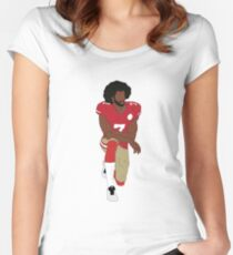 Colin Kaepernick Kneeling  Women's Fitted Scoop T-Shirt