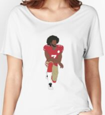 Colin Kaepernick Kneeling  Women's Relaxed Fit T-Shirt
