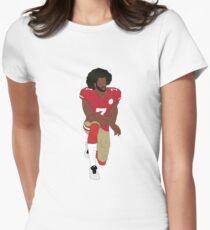 Colin Kaepernick Kneeling  Women's Fitted T-Shirt