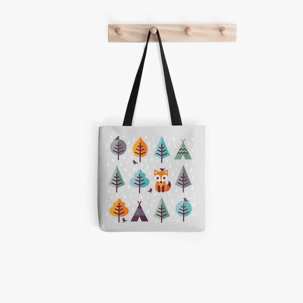Fuchs im Wald - auf Grau Tote Bag