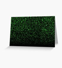 Distorted black and green Glass Greeting Card