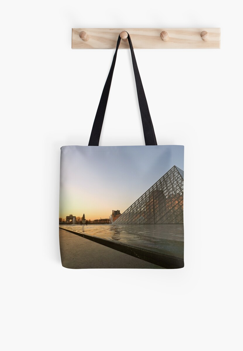 Paris the Louvre Pyramid sunset by graceloves