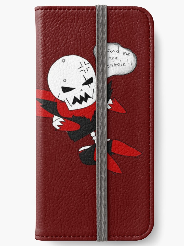 'Underfell Papyrus' iPhone Wallet by fireredchild