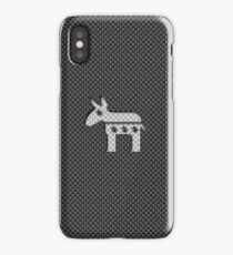 Donkey Democratic Party Symbol on Carbon Fiber Material iPhone Case/Skin