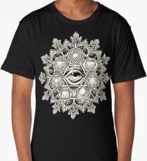 Anahata Seven Chakra Flower Mandala Long T-Shirt