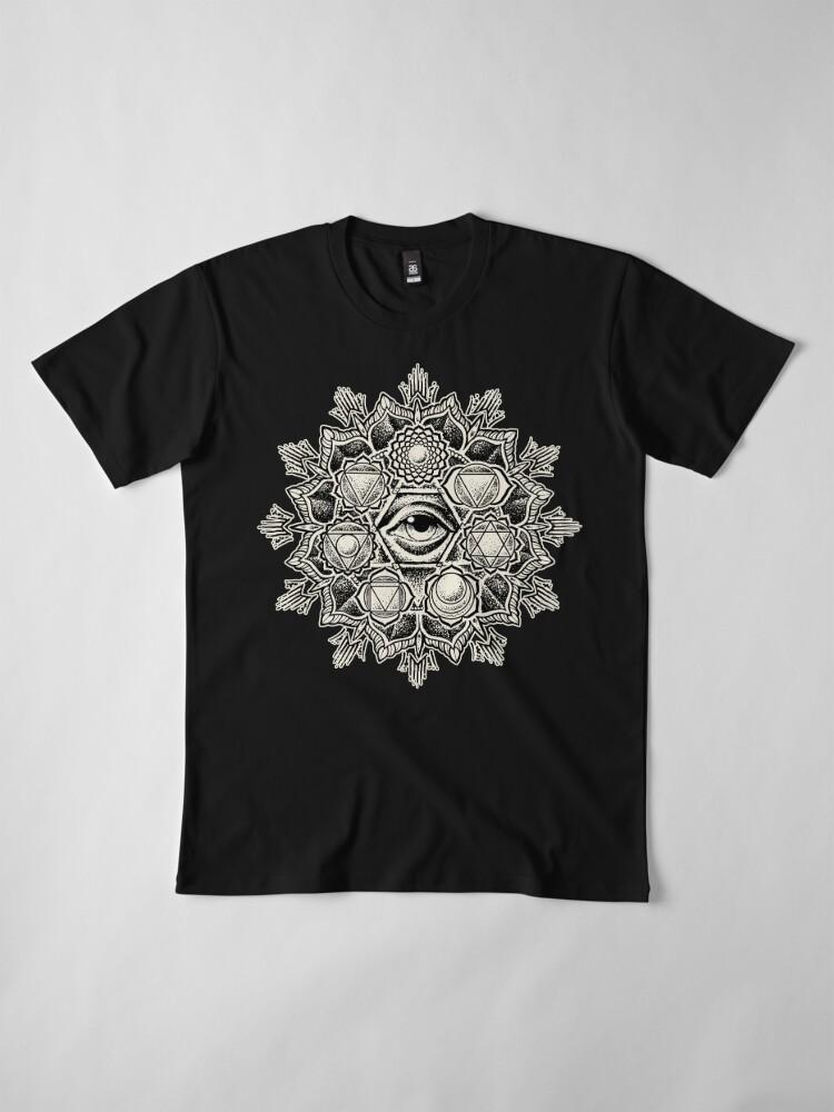 Alternate view of Anahata Seven Chakra Flower Mandala Premium T-Shirt