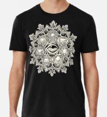 Anahata Seven Chakra Flower Mandala Men's Premium T-Shirt