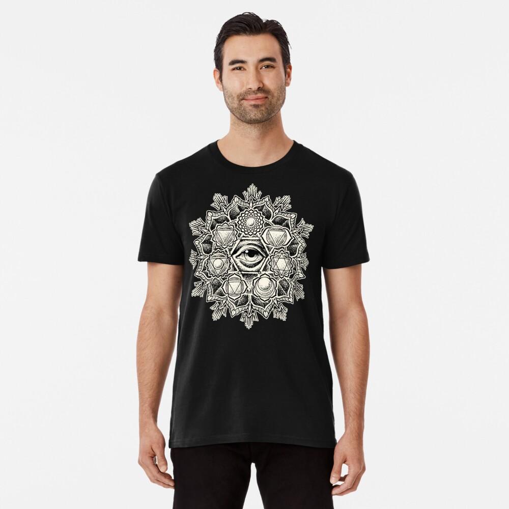 Anahata Seven Chakra Flower Mandala Premium T-Shirt