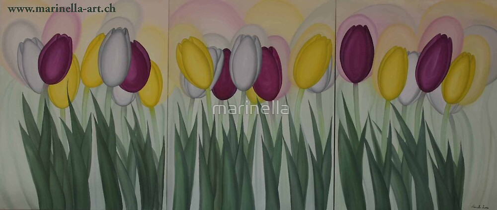 Tulipans Painting by Marinella  Owens
