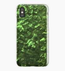 Bright Jade Green Jewelry Mother of Pearl iPhone Case/Skin