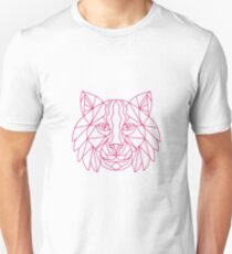 Lynx Bobcat Head Mono Line Unisex T-Shirt