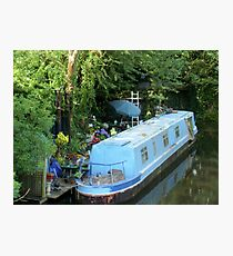 Blue Barge Photographic Print