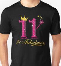 11. Geburtstags-Mädchen-fabelhaftes Prinzessin Shirt Slim Fit T-Shirt