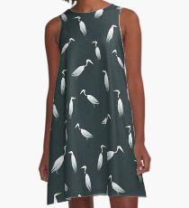 Heron Pattern A-Line Dress