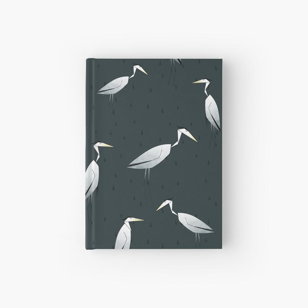 Heron Pattern Hardcover Journal