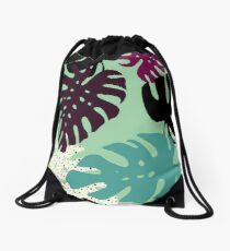 Monstera 02 Drawstring Bag