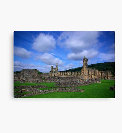Byland Abbey -3 Canvas Print