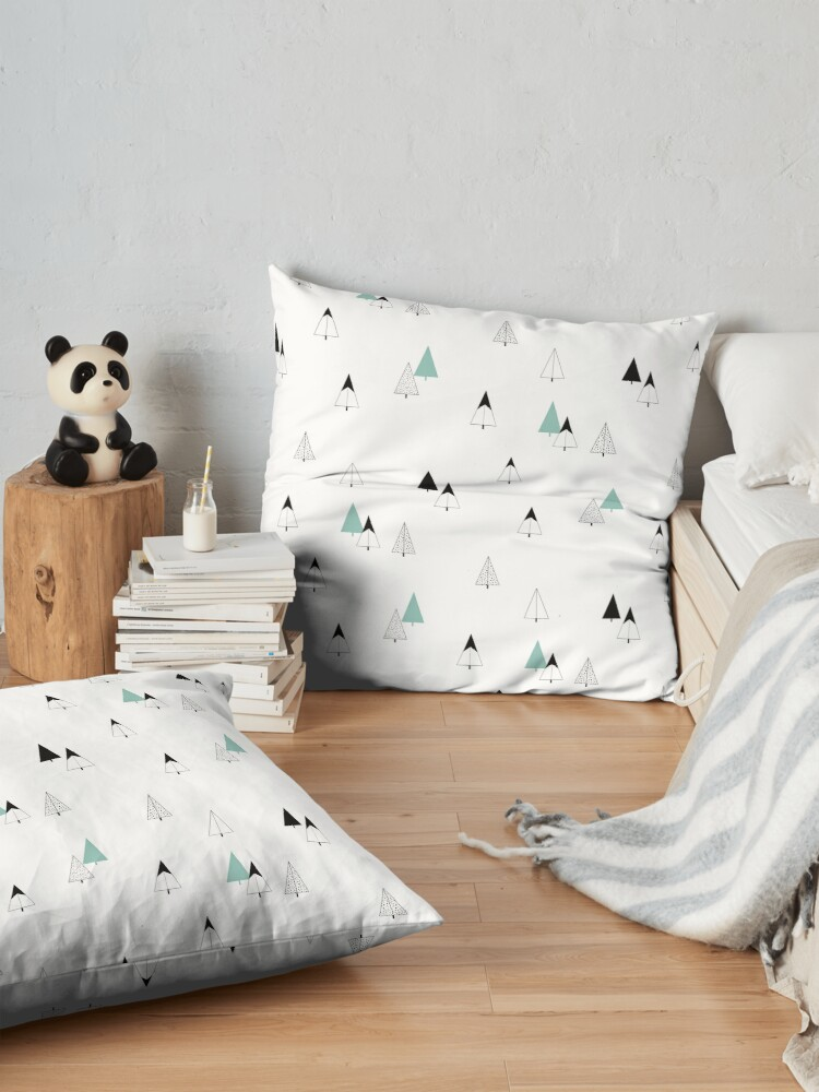 Alternate view of Pine Trees Floor Pillow