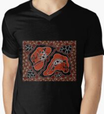 Aboriginal Art Authentic - Men Kangaroo Hunting T-Shirt