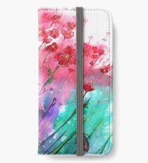Blumen - tanzende Mohnblumen iPhone Flip-Case/Hülle/Skin