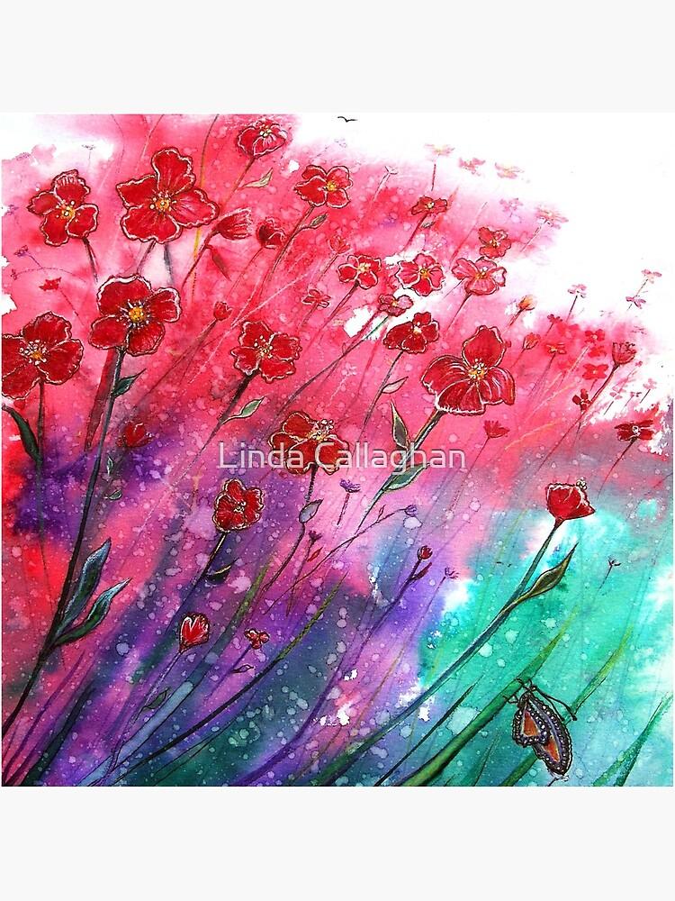 Flowers - Dancing Poppies by LindArt1