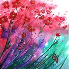 «Flores - Dancing Poppies» de Linda Callaghan