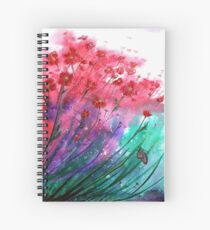 Flowers - Dancing Poppies Spiral Notebook