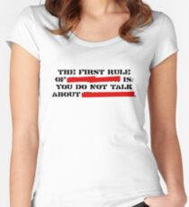 the first rule of fight club Women's Fitted Scoop T-Shirt