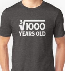 Funny Math Geek 10th Birthday Cube Root T-Shirt Ten Year Old  T-Shirt