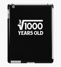 Funny Math Geek 10th Birthday Cube Root T-Shirt Ten Year Old  iPad Case/Skin
