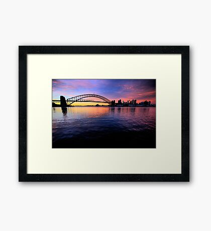 Sydney Uncut - Moods Of A City - The HDR Series Framed Print