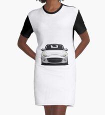 Mazda MX-5 Miata 4th Generation 2015 White Graphic T-Shirt Dress