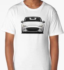 Mazda MX-5 Miata 4th Generation 2015 White Long T-Shirt