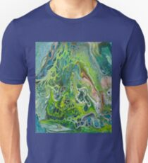 Paint pour greens with bubbles Unisex T-Shirt
